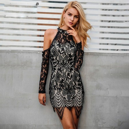 Sexy Short Female Dress Elegant Fringe Party Style SIMPLEE