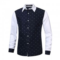 Casual Shirt Men's Long Sleeve Skull Pattern