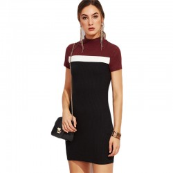 Formal Shaped Dress Formal Style Casual Colrovie Short Sleeve