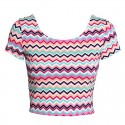 Mini Colorful Blouse Top T Fitness Academy Linda Urban
