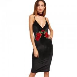 Sexy Clubwear Embroidery Colrovie Women's Floral Clubwear
