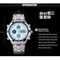 Clock Digital Sport Classic Analog Quartz Men Gold