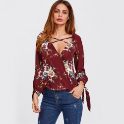 Women's Floral Dress Casual Style Long Sleeve Casual
