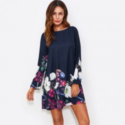Women's Casual Floral Dress Casual Short Sleeve