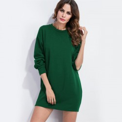 Women's Casual Dress Winter Style Short Sleeve Basic Brief