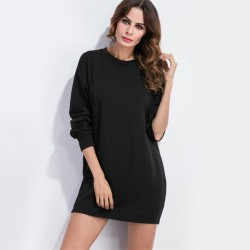 Women's Casual Dress Basics Winter Style Short Sleeves Brief