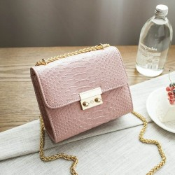 Bolsa Clutches Feminina Pequena de Mão Casual Elegante Alça Dourada