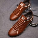 Shoes Social Brown Male Leather Elegant Casual Shoe
