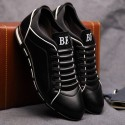 Shoes Social Red Male Leather Elegant Casual Shoe