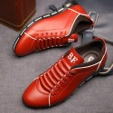 Shoes Social Blue Male Leather Elegant Casual Shoe