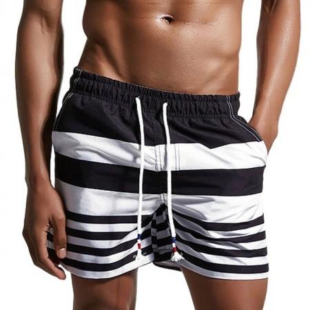 Short Listrado Zebra Curto Masculino Casual de Batedeira Moda Praia