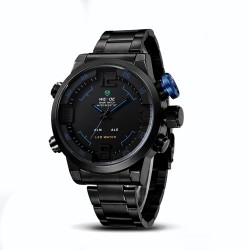 Men's Watch Quartz Sports Multifunction Stainless Steel
