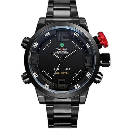 Men's Watch Quartz Sports Multifunction Stainless Steel