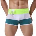 Men's BodyBuilding Underwear Fashion Summer Beach Striped Sunga