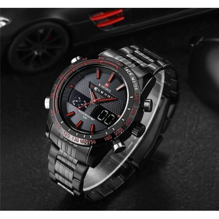 Clock Estportivo Male Quartz Analog Digital Red
