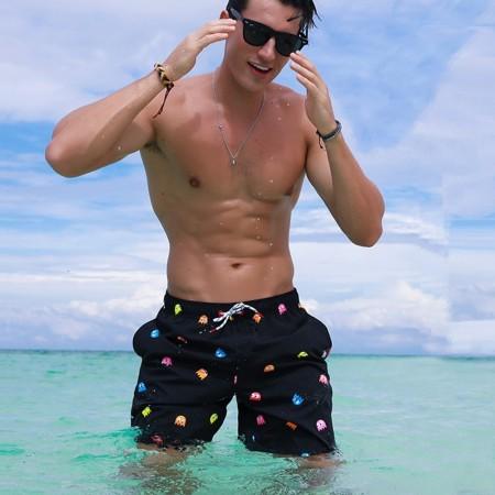 Pac-Man Blender Short Print Men's Beach Short Fashion