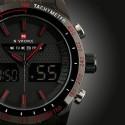Relógio Estportivo Masculino Vermelho de Quartzo Analogico Digital