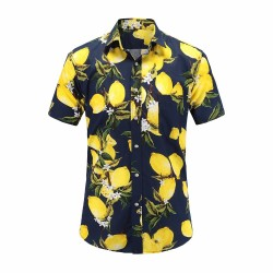 Floral Shirt Male Fashion Foliage Hawaiian Fashion Foliage