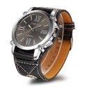 Watch Women's Elegant Casual Quartz Black Leather White