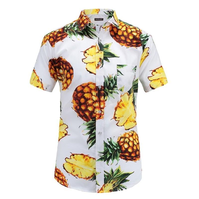d5fd01a298 Camisa Abacaxi Floral Masculina Estampada Havaiana Macho Moda. Loading zoom