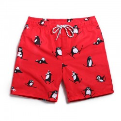 Men's Red Casual Blender Casual Print Penguin