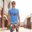 Bermuda Print Colored Men Casual Fish Fabric Haute Couture