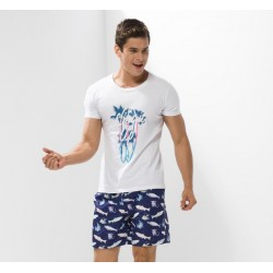 Beach Casual Men's Fashion Casual Printed Fish Cute Ocean
