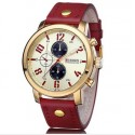 Casual Unisex Watches Various Colors Bracelet Leather Quartz
