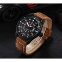 Watch Black Leather Male Stitched Super Cheap