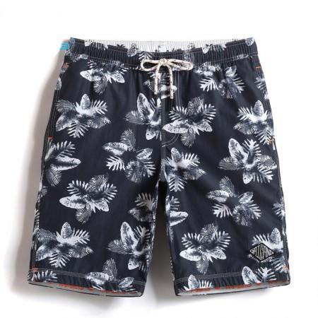 Short de Banho para Homem Estampado Floral Cores Neutras Simples 3df13c50ca3cd
