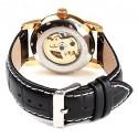 Relógio Automatico cor de Ouro Masculino Elegante Esqueletico