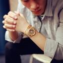 Watch Elegant Luxury Male Cheap Gold / Gold / Silver Skeletal