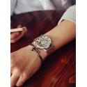 Watch Elegant Luxury Male Cheap Gold / Gold / Silver Skeletal