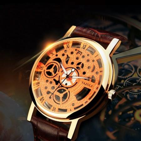 Elegant Casual Watch Unisex Quartz Skeletal Sophisticated