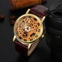 Relógio Elegante Casual Unisex Quartzo Esqueletico Sofisticado