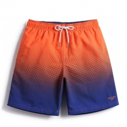 Casual Soccer Colored Short In Degrade Textured Urban Style