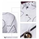 Camisa Casual Geométrica Masculina Branca Estampada Manga Longa