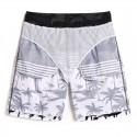 Men's Beach Short Striped Hawaiian Print Fashion Summer