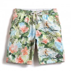 Short Flowered Sea and Jungle Male Casual Fashion Beach Bath and Pool