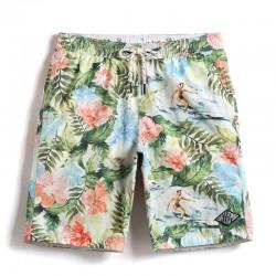 Short Flowered Sea and Jungle Male Casual Fashion Beach Bath and Pool