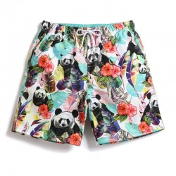 Men's Casual Panda Short Skirt Light Colors