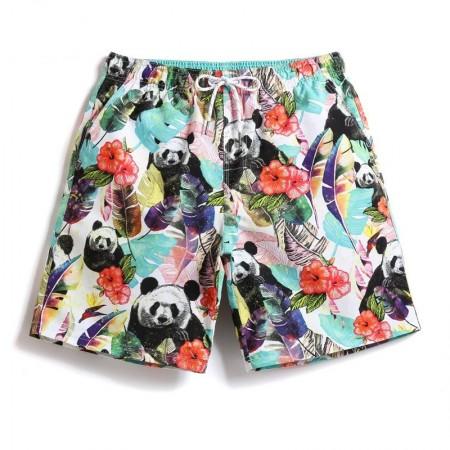 Short de Panda Masculino Casual para Batedeira Cores Claras