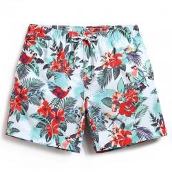 Nova Moda de Shorts de Estampa Floral Masculino Casual de Movihomemto