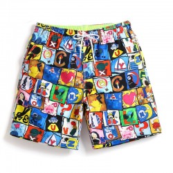 Short Chess Casual Printed Cartoon Style