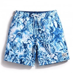 Short Short Floral Pattern Men's Casual Stylish Sea Walking