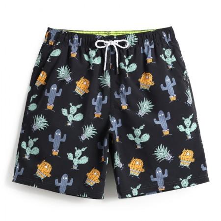 Men's Cactus Casual Short Sleeve Stripe Short