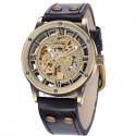 Relógio de Bronze Clássico Masculino Estilo Antigo Automatico