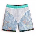 Men's Pool Short Casual Foliage Fashion Beach Tactel Short