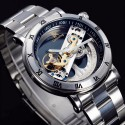 Watch Luxury Men's Automatic Stainless Steel Elegant Manual