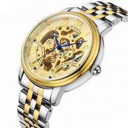 Relógio de Luxo Ouro Masculino Automático Elegante Presidente